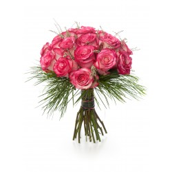 Bouquet of roses - 25 pink...