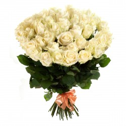 Bouquet of roses - 65 white...