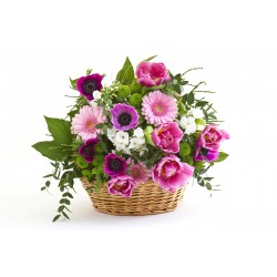 Flower basket AMARENTE
