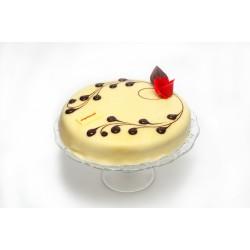 Curd-marzipan cake