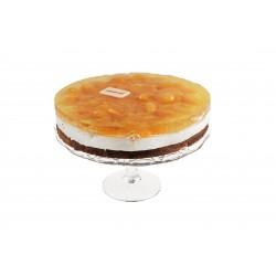 Tangerine-curd cake